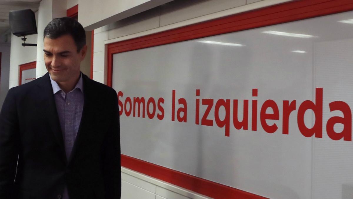 Pedro Sánchez, tras la Ejecutiva Federal de este lunes.
