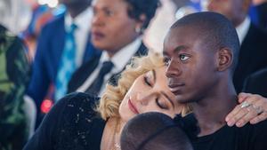 Madonna, con su hijo David Banda.