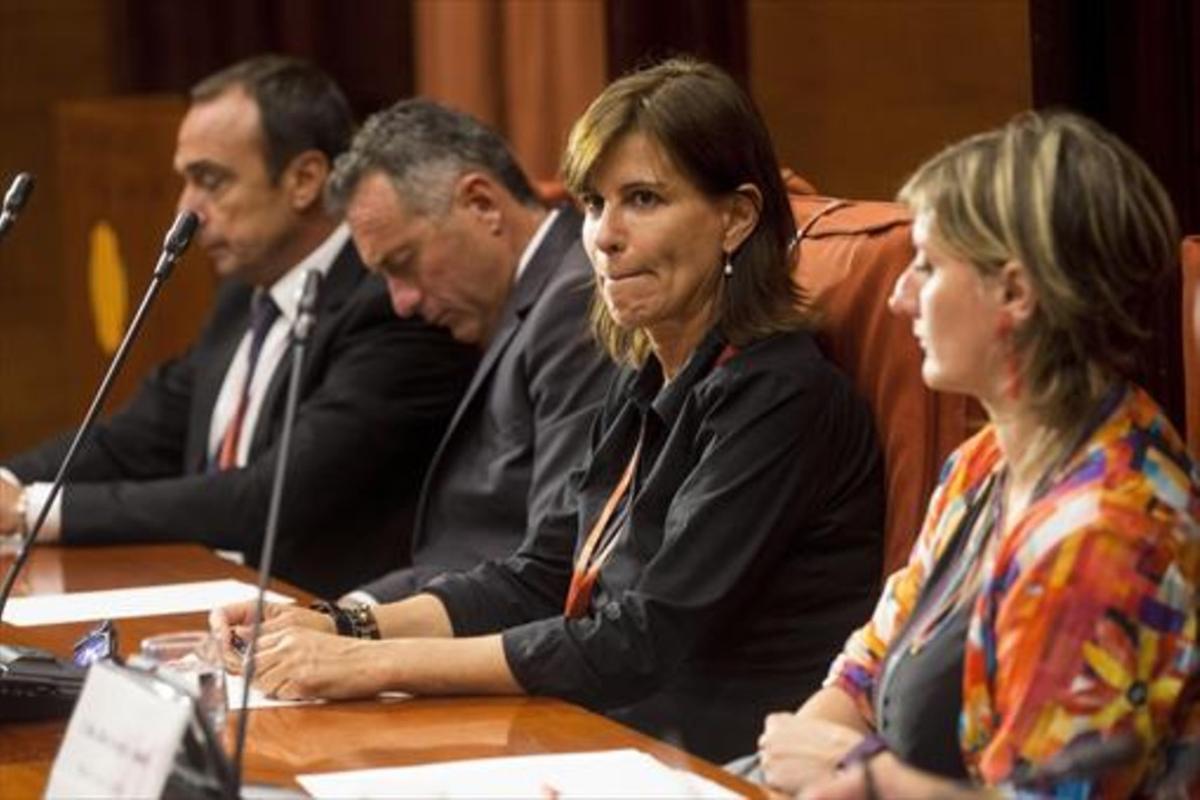 Victoria Álvarez, durante su comparecencia en la comisión de la 'operación Cataluña' del Parlament.