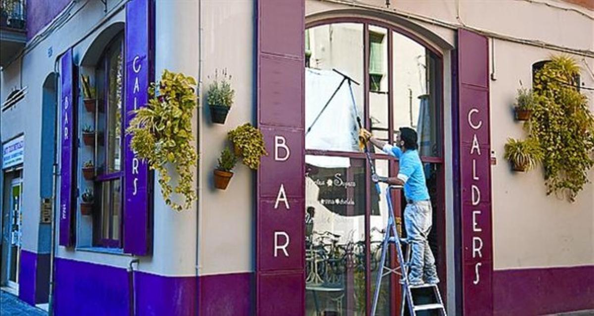 El bar Calders, en la calle de Parlament, ayer.