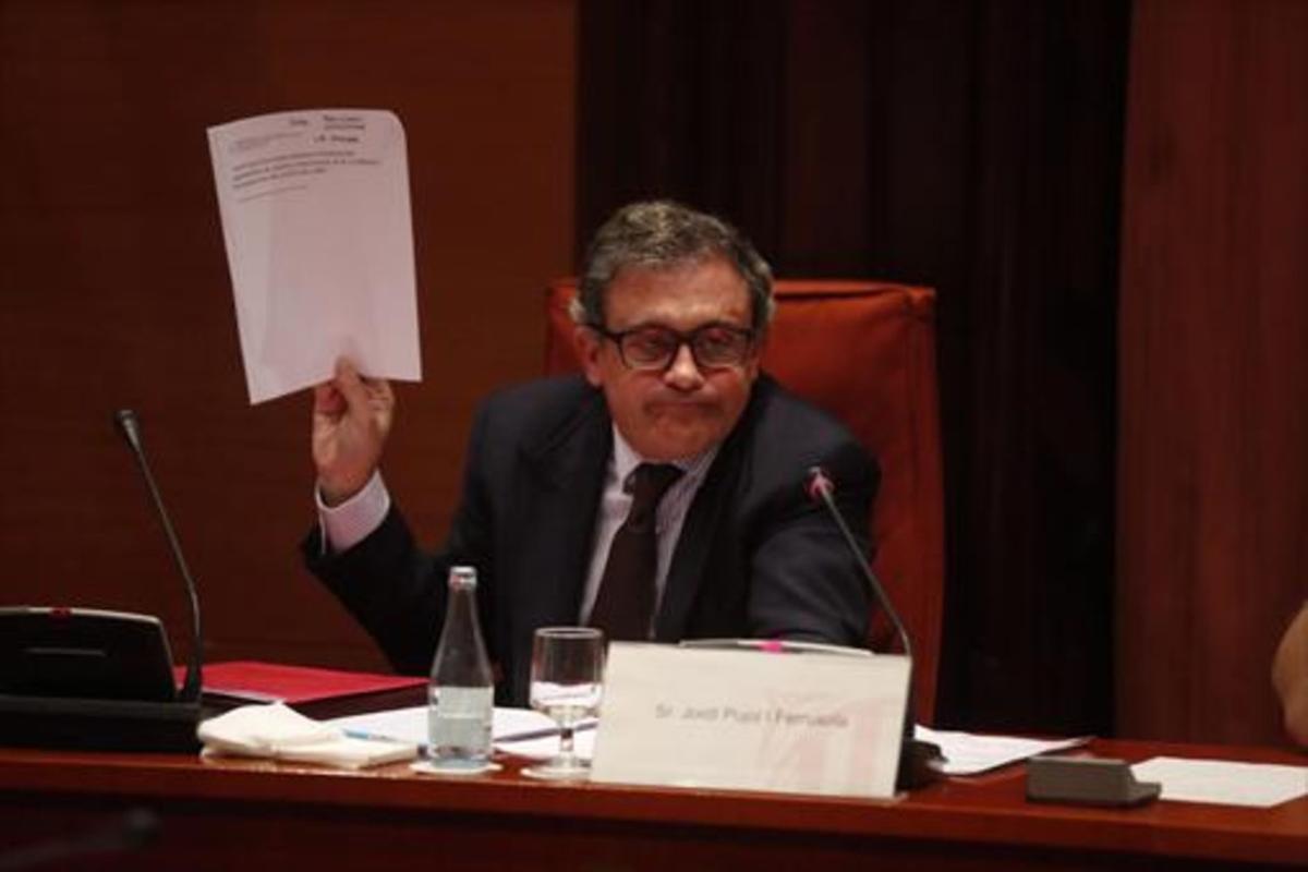 Jordi Pujol Ferrusola, en el Parlament en el 2015.
