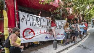 Protesta del Sindicato de Inquilinos en Nou Barris.