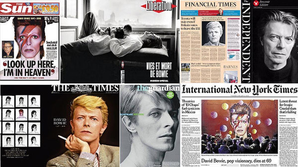 Bowie, en toda la prensa europea y de EEUU.