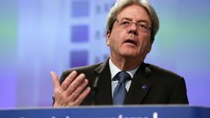 El comisario europeo de Asuntos Económicos, Paolo Gentiloni, este jueves en Bruselas.