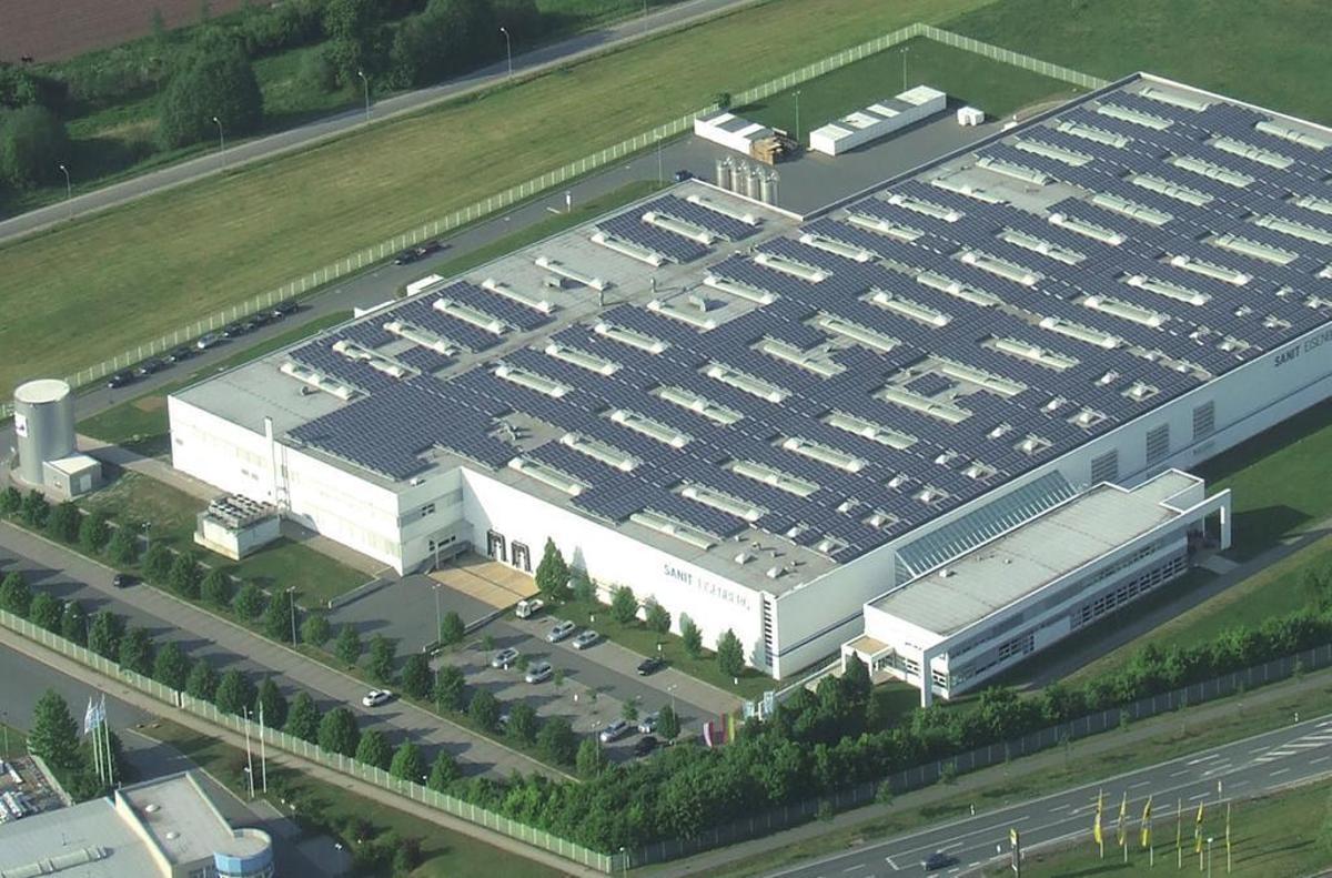 Vista aérea de una de las instalaciones de la firma alemana Sanit.