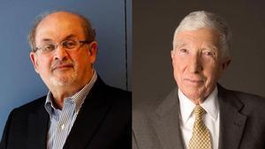Salman Rushdie y John Updike.
