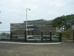 Palacio presidencial de Monrovia.