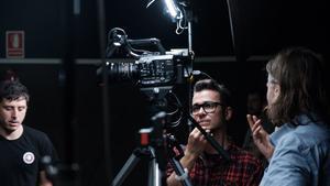 Daniel M. Caneiro (centro), durante el rodaje del filme.