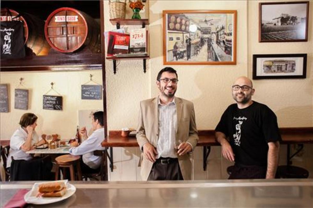 Alberto García Moyano y Marc Miñarro, en la bodega Montferry. Foto: Cecilia de Fátima