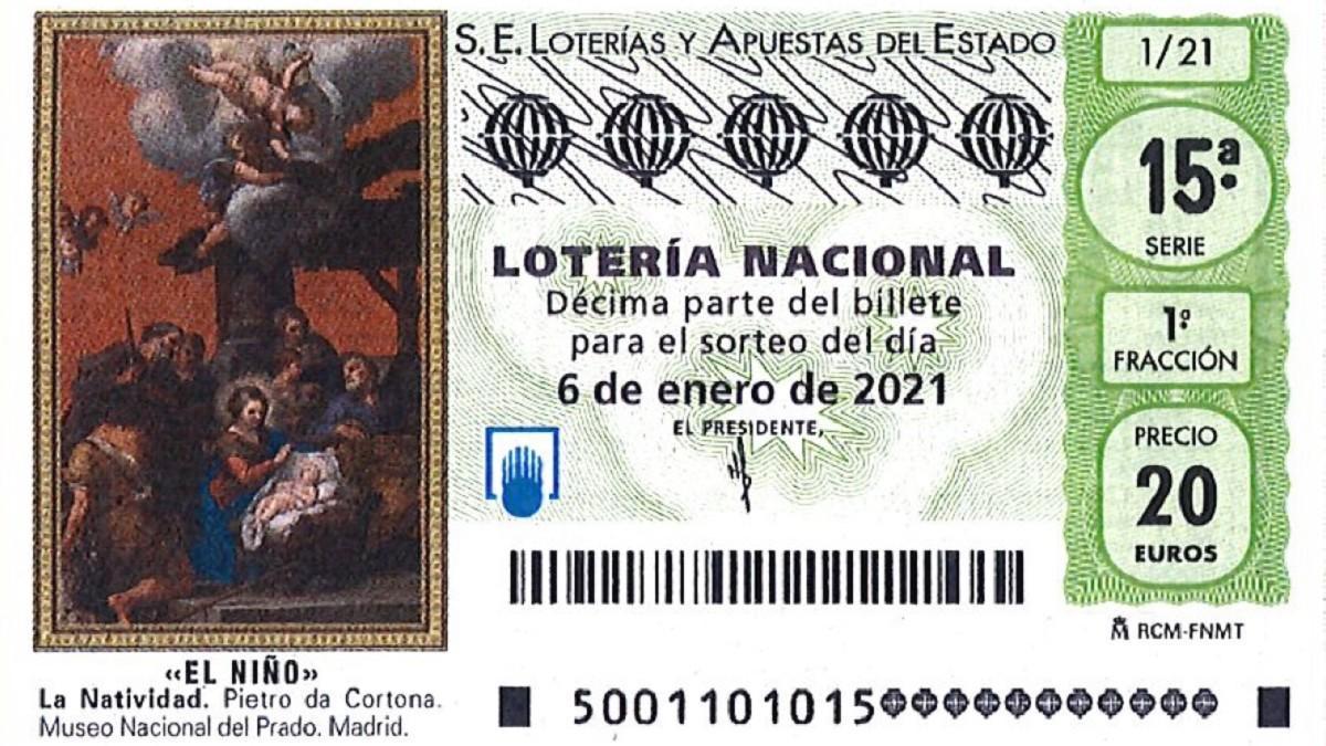 Décimo de la Lotería del Niño 2021.