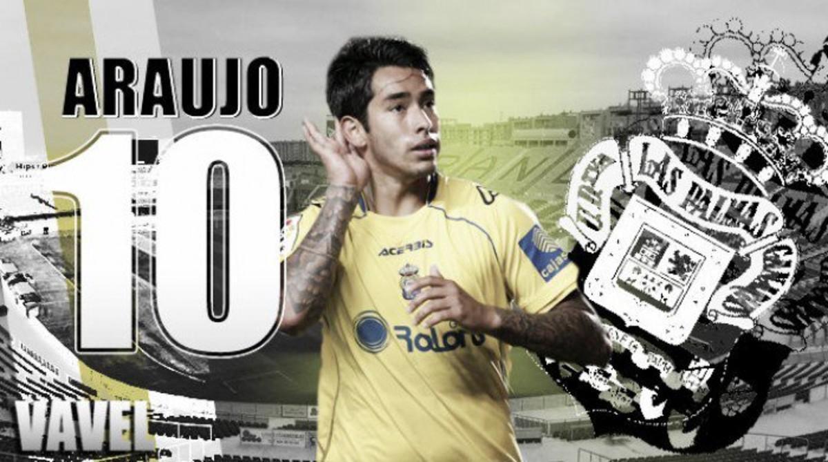 Araujo, en un fotomontaje promocional de la Unión Deportiva Las Palmas.