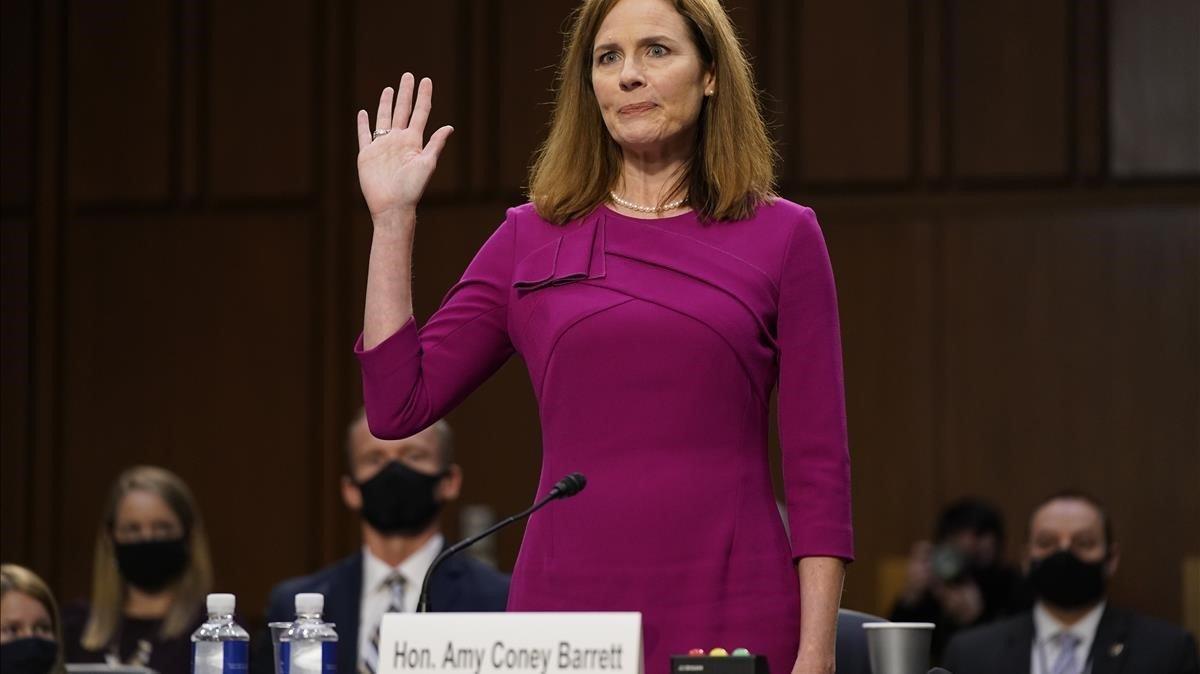 La nuevajueza del Tribunal Supremo de EEUU,Amy Coney Barrett.