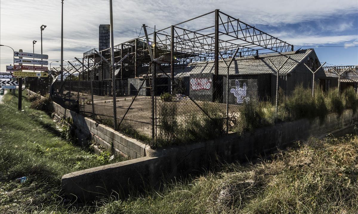 Los restos de la discoteca Templo.