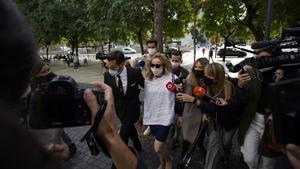 La mujer de Mainat, el pasado 25 de octubre, en la Ciutat de la Justícia de Barcelona.