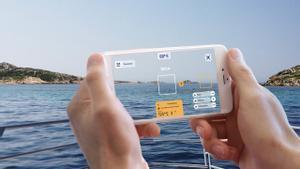 Ejemplo de funcionamiento de la aplicación ShoreView con realidad aumentada