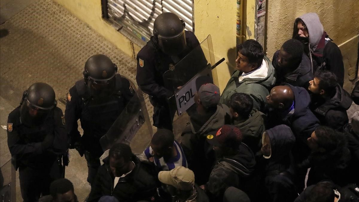 Disturbios en Lavapiés.