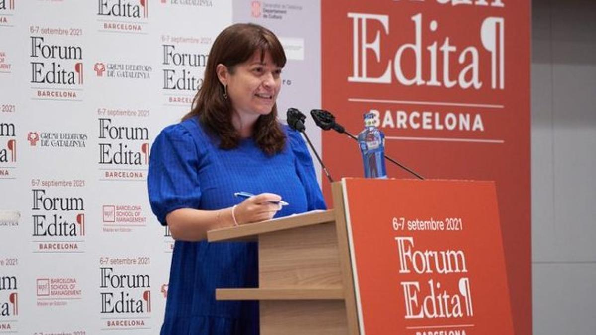 María José Gálvez, directora general del  Libro en su participación en el Forum Edita.
