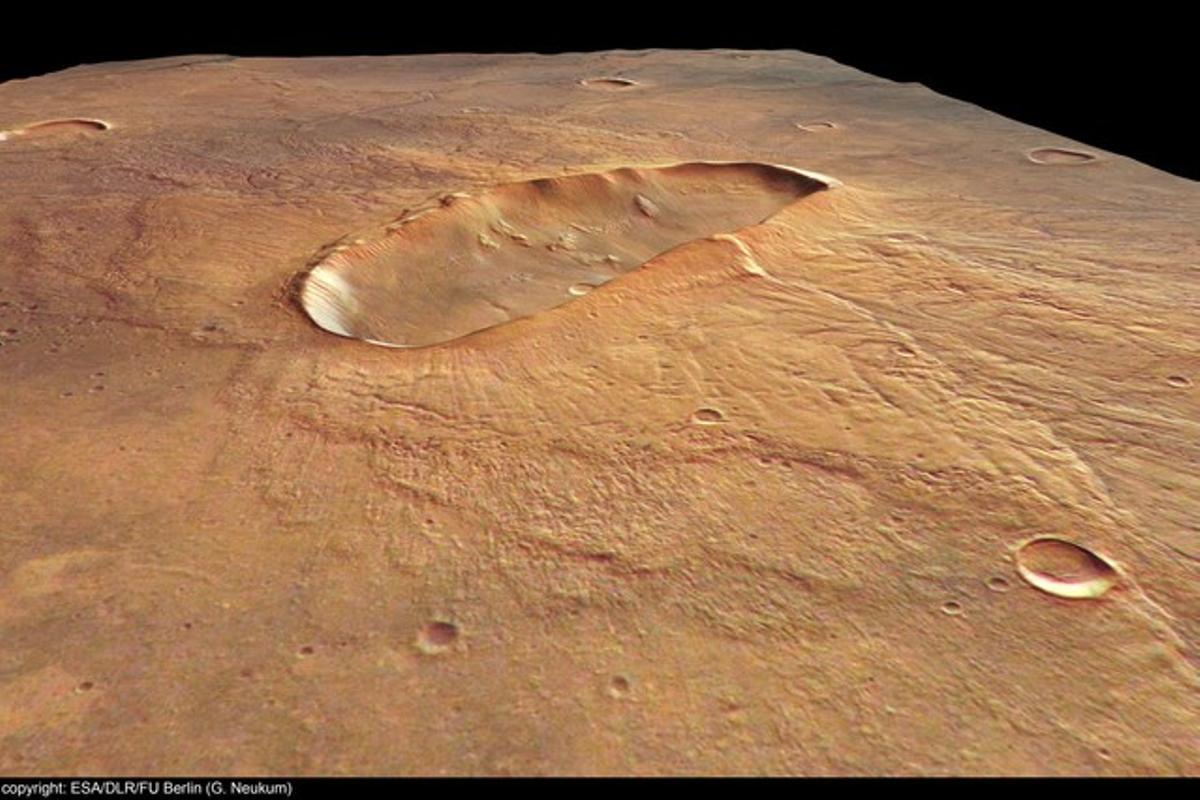 Imagen de la superficie del planeta rojo.