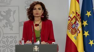 La ministra de Hacienda y portavoz del Gobierno,María Jesús Montero.
