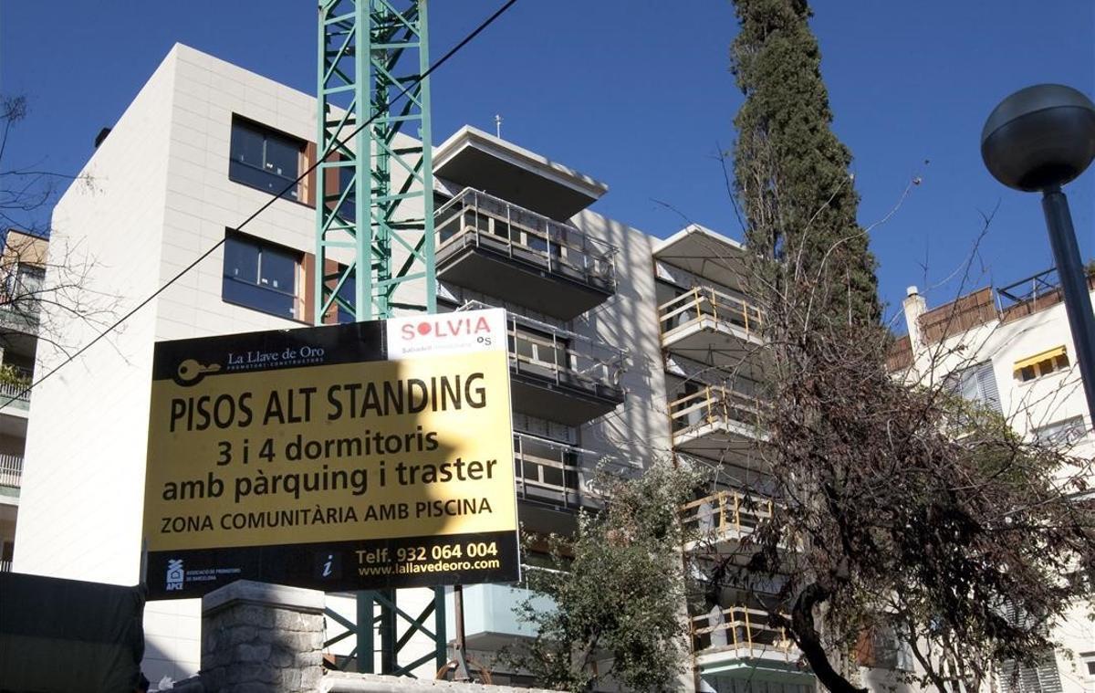 Promoción de viviendas en venta en Barcelona.
