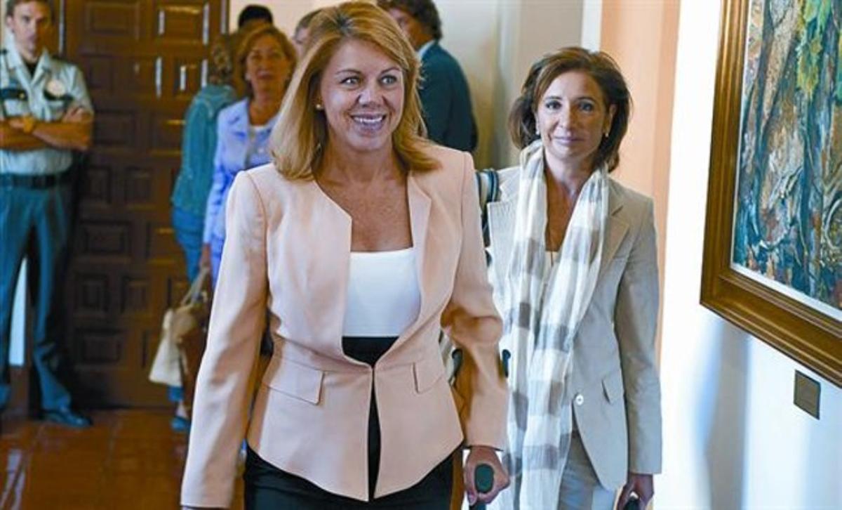 La presidenta de Castilla-La Mancha, María Dolores de Cospedal, ayer en Toledo.