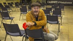 Pere Camps, director de festival Barnasants, en el Casinet d'Hostafrancs.