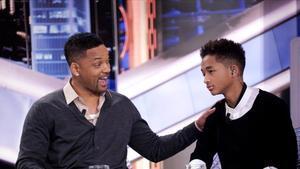Will Smith y su hijo Jaden, en el plató de 'El Hormiguero'.
