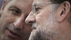 Francisco Camps y Mariano Rajoy, en la campaña electoral del 2011.