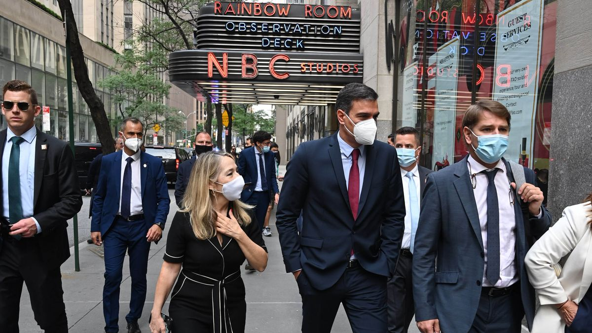 El presidente del Gobierno, Pedro Sánchez, pasea este 21 de julio por las calles de Nueva York, primera parada dentro de su gira por Estados Unidos.