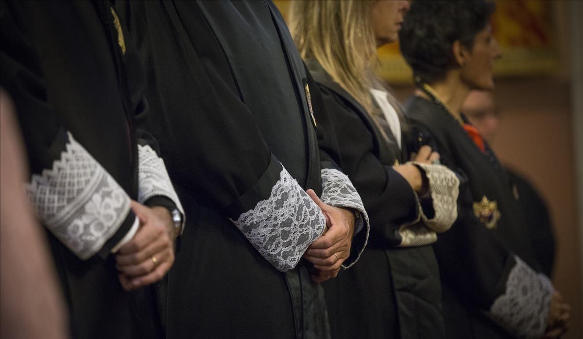 Jueces y juezas en la apertura del año judicial 2015 en Catalunya.