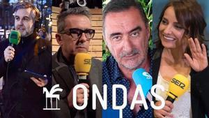 Algunos de los ganadores de los Premios Ondas en la categoría de radio.