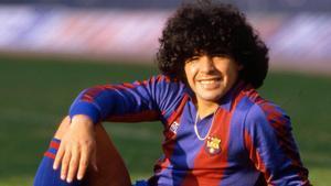 Maradona en 1984 cuando era jugador de Barça.