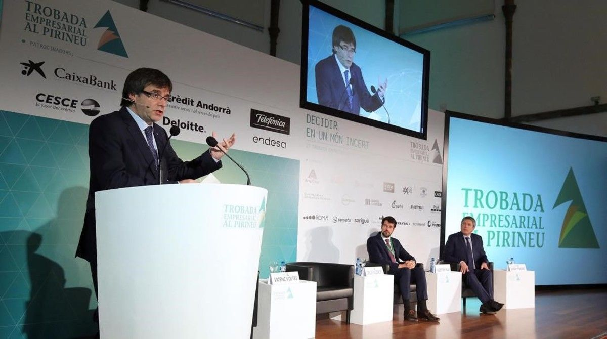 Puigdemont inaugura la Jornada Empresarial del Perineu.