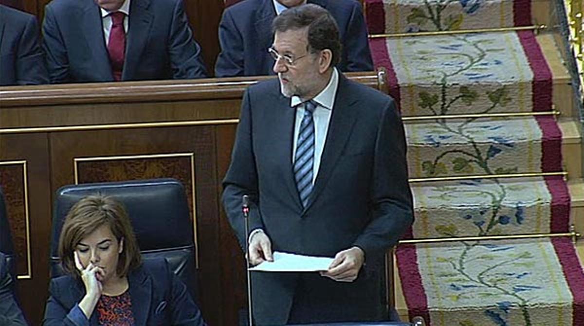 Las declaraciones de Rajoy este miércoles en el Congreso