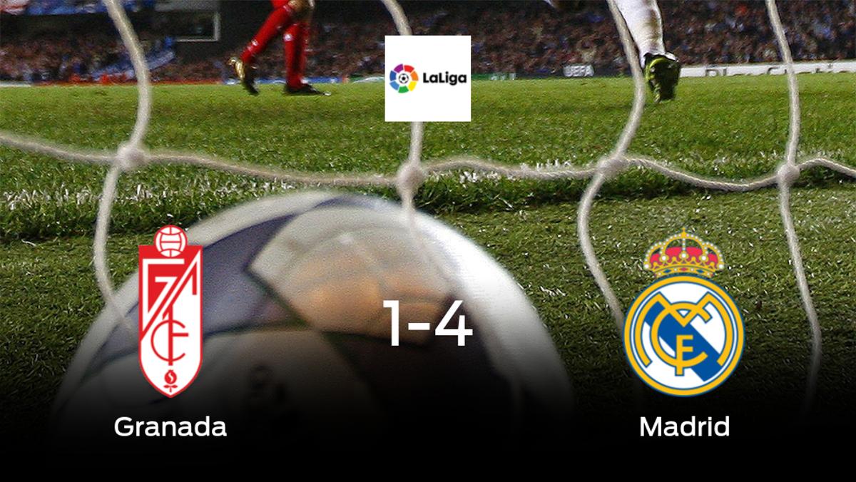 El Real Madrid muestra su poderío tras golear al Granada (1-4)