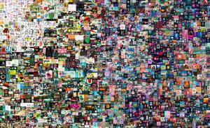 El criptoarte puja al alza: 70 millones de dólares por una obra digital. En la imagen, fragmento de 'Everydays: The First 5000 Days' ('Todos los días: los primeros 5000 días'), un 'collage' de bytes digitales.