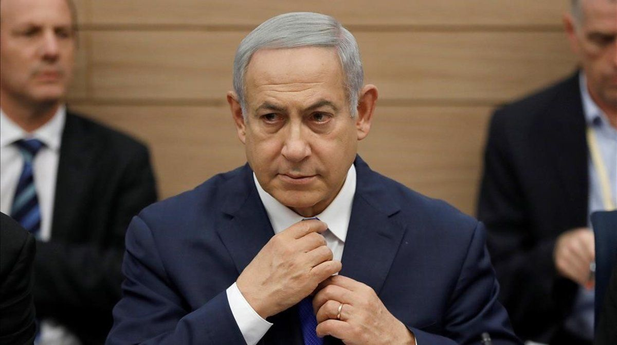 El primer ministro israelí, Binyamin Netanyahu, este lunes.