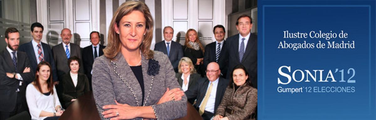 Imagen de las personas que forman la candidatura de Sonia Gumpert