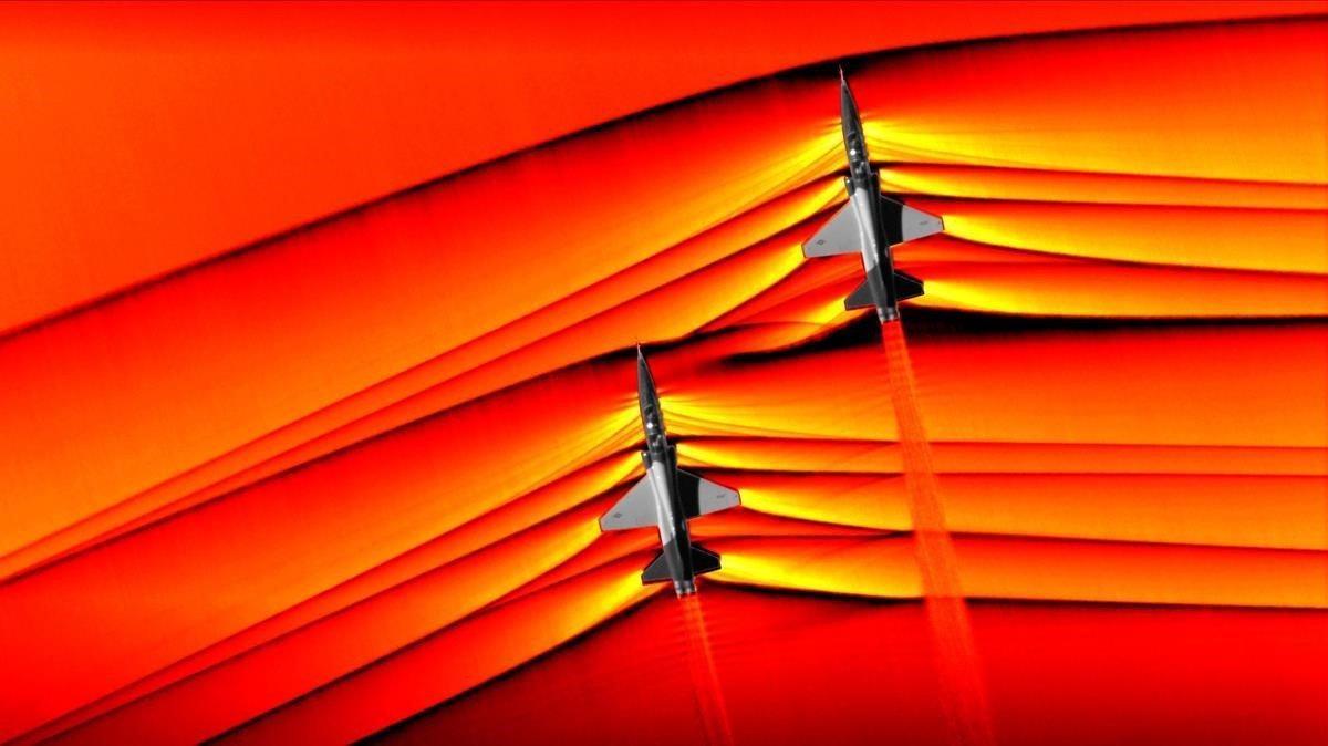 La NASA fotografia les ones de xoc dels avions supersònics