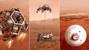 Simulación del aterrizaje del 'Perseverance' en Marte.