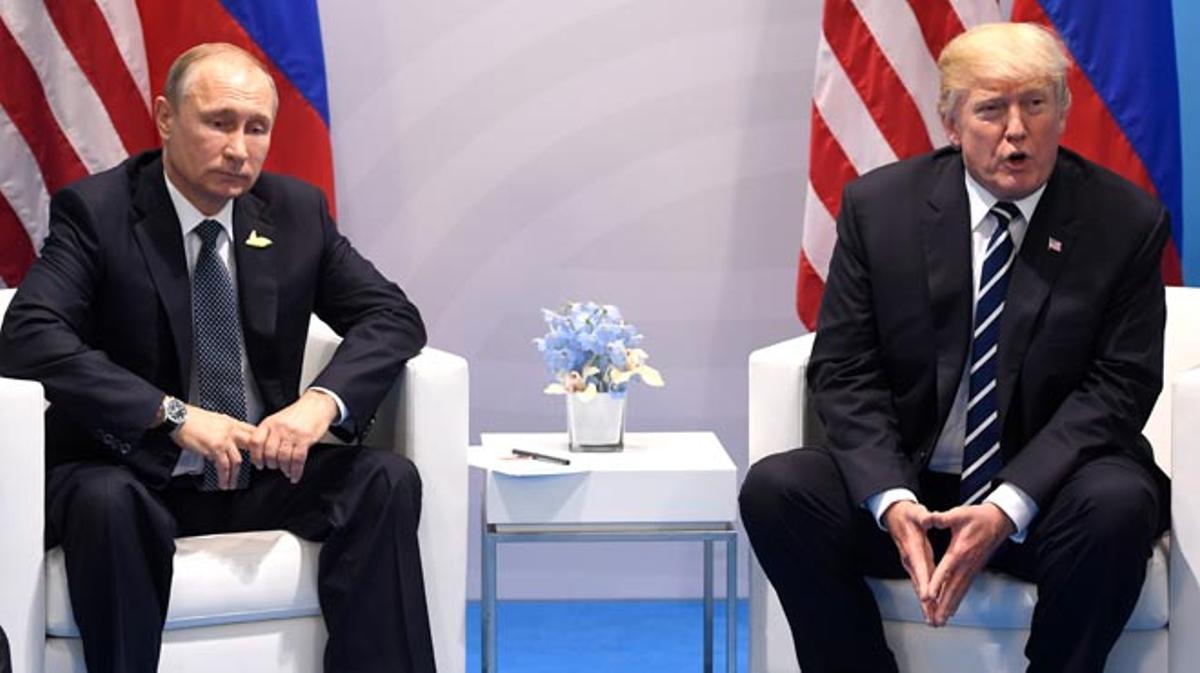 Putini Trump es reuneixen en el marc del G-20 a Hamburg.