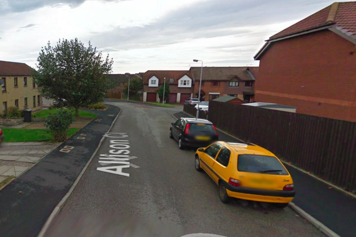 Imagen de Google Maps de la calle Allison Close (Aberdeen) donde vivía la mujer.