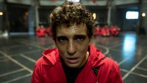 Miguel Herrán interpretando a Río en 'La casa de papel'