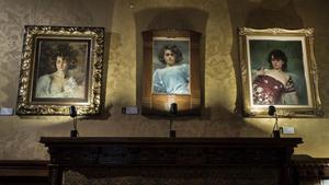 Retratos de la primera parte de la exposición, en los que Casas plasmó a la Júlia más apasionada.