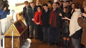 El Museu de Lleida denuncia que Sixena col·loca una caixa sepulcral al costat d'una columna de climatització