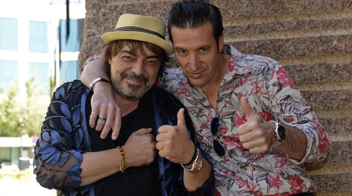 Duelo flamenco entre Antonio Canales y José Porcel