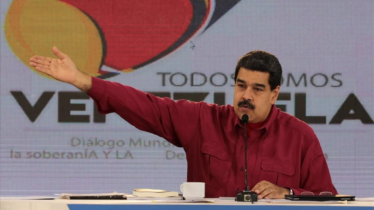 Maduro interviene durante la emisión semanal de 'Los Domingos con Maduro', en Caracas, el 17 de septiembre.