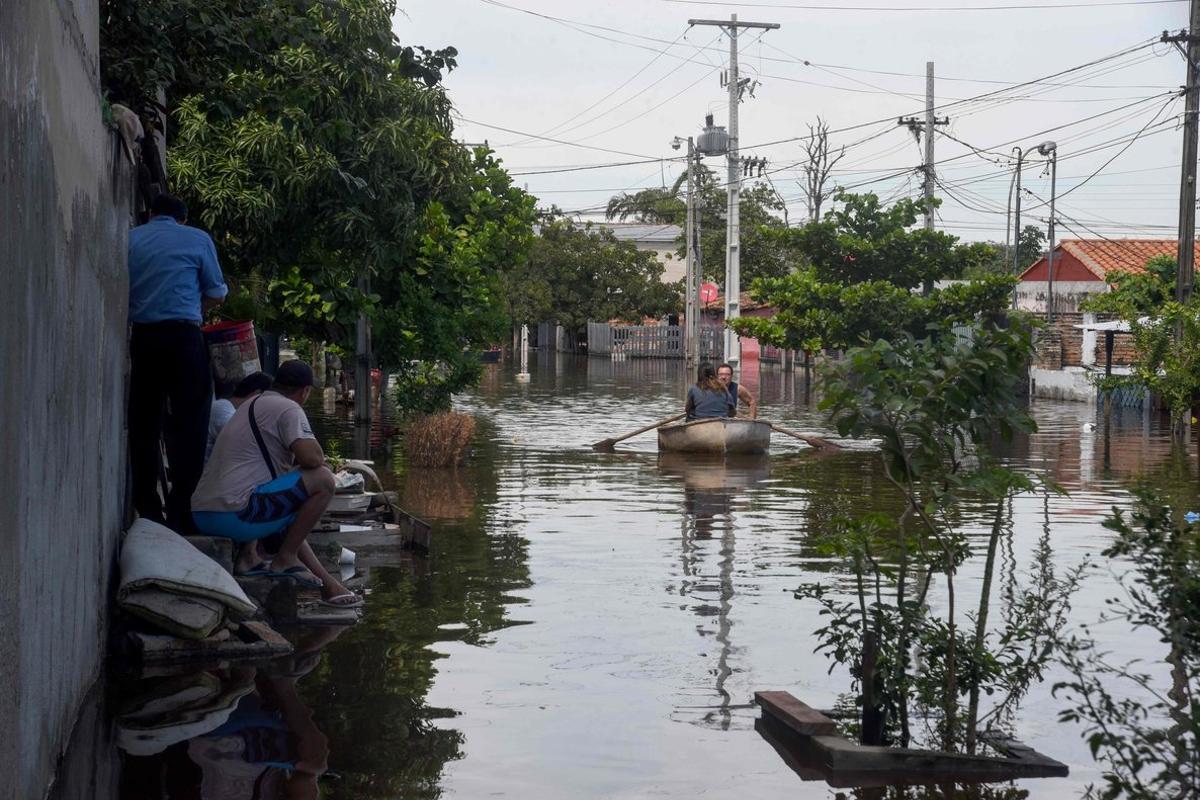 Las fuertes lluvias provocan inundaciones en Paraguay.
