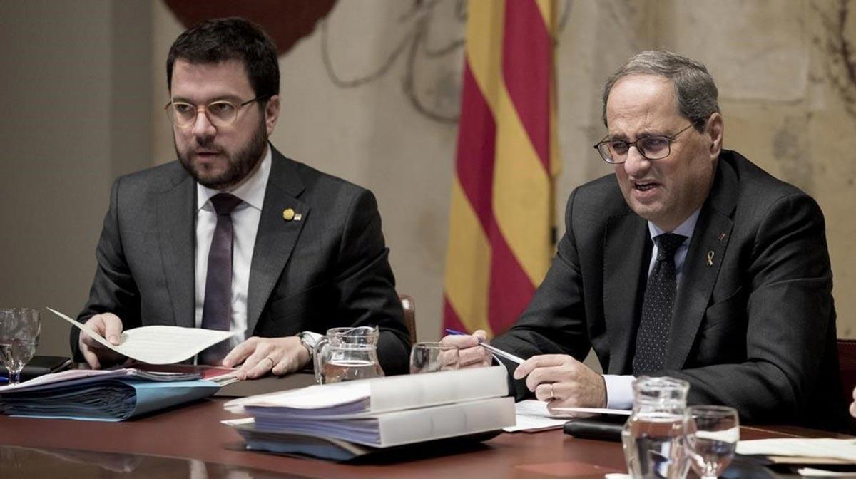 Torra avisa a Aragonès que l'acord ERC-PSOE «no té el vistiplau del Govern»