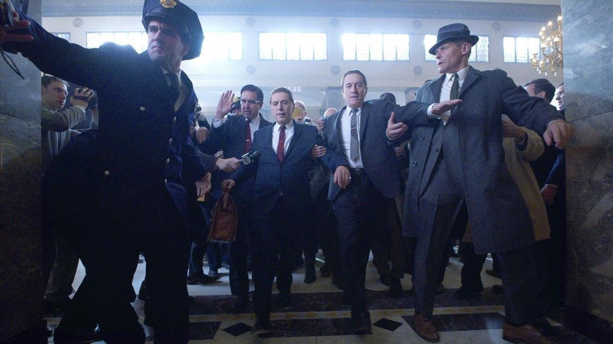 Al Pacino y Robert De Niro, en una imagen de 'The Irishman'.